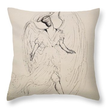 Walking With An Angel Throw Pillow