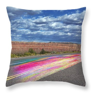 Throw Pillow featuring the digital art Walking With God by Margie Chapman