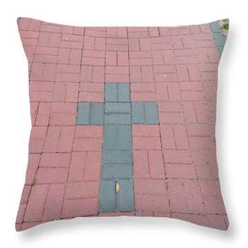 walkway of Faith Throw Pillow