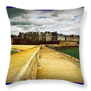 Walkway To Intra Muros Throw Pillow