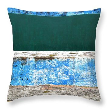 Wall Abstract 112 Throw Pillow by Maria Huntley