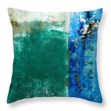 Throw Pillow featuring the digital art Wall Abstract 159 by Maria Huntley