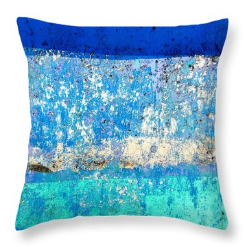Wall Abstract 23 Throw Pillow by Maria Huntley