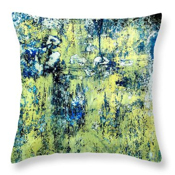 Throw Pillow featuring the digital art Wall Abstract 27 by Maria Huntley