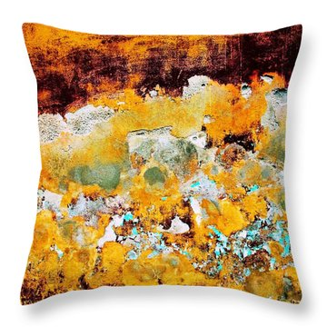 Throw Pillow featuring the digital art Wall Abstract 28 by Maria Huntley