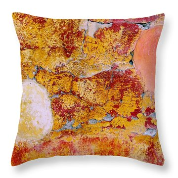 Throw Pillow featuring the digital art Wall Abstract 3 by Maria Huntley