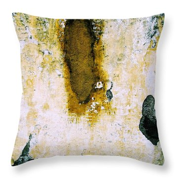 Throw Pillow featuring the digital art Wall Abstract 33 by Maria Huntley