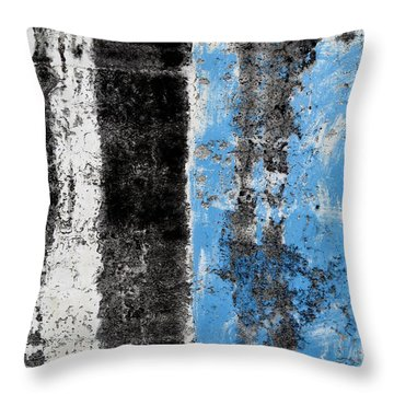 Throw Pillow featuring the digital art Wall Abstract 34 by Maria Huntley