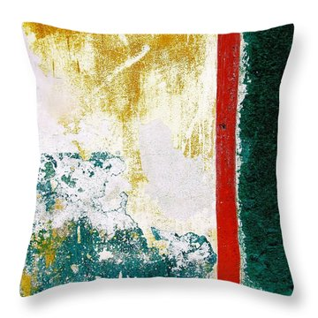 Throw Pillow featuring the digital art Wall Abstract 71 by Maria Huntley