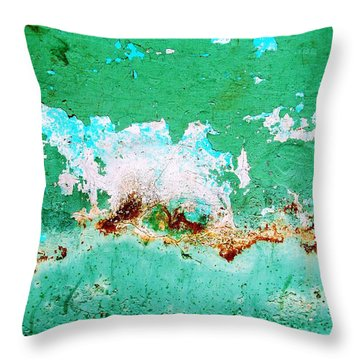 Wall Abstract 77 Throw Pillow by Maria Huntley
