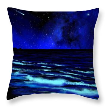 Wall Mural Bali Hai Tunnels Beach Kauai Throw Pillow