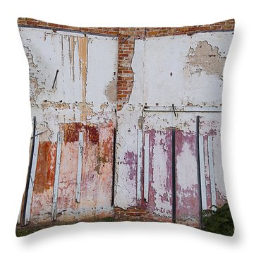 Wall Of Colors Throw Pillow