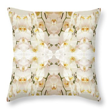 Wall Of Orchids II Throw Pillow by Paul Ashby