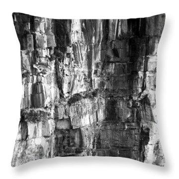 Throw Pillow featuring the photograph Wall Of Rock by Miroslava Jurcik