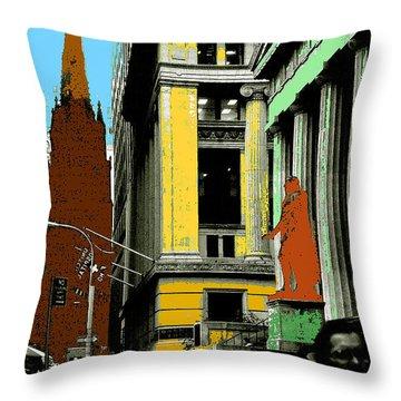 New York Pop Art 99 - Color Illustration Throw Pillow