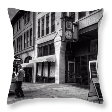 Wall Street Hot Dogs In Asheville Nc Throw Pillow