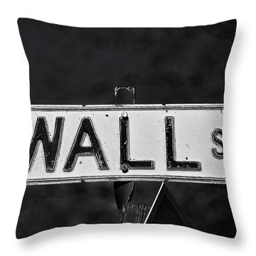 Wall Street Throw Pillow by Karol Livote