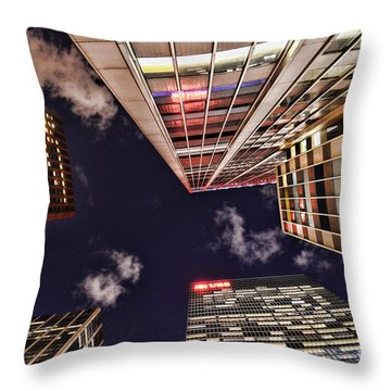 Wall Street Throw Pillow by Paul Ward