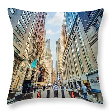 Wall Street Throw Pillow