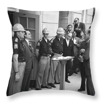 Wallace Blocks Integration Throw Pillow by Warren K Leffler
