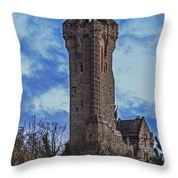 Wallace Monument During Sunset Throw Pillow