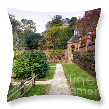 Walled Garden Throw Pillow by Shari Nees
