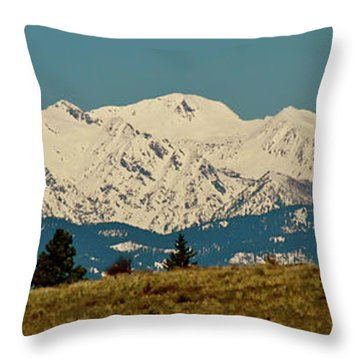 Wallowa Mountains Oregon Throw Pillow by Ed  Riche