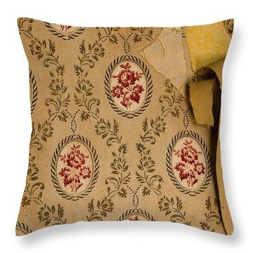 Throw Pillow featuring the photograph Wallpaper by Liz  Alderdice