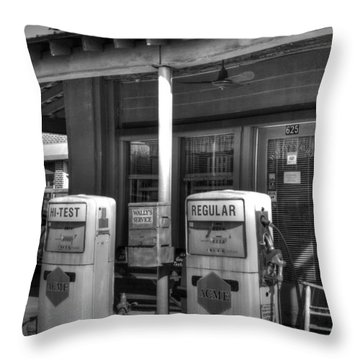 Wally's Service Station Throw Pillow