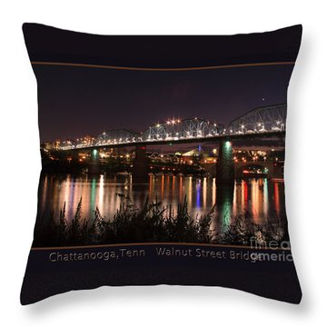 Walnut At Night Throw Pillow by Geraldine DeBoer