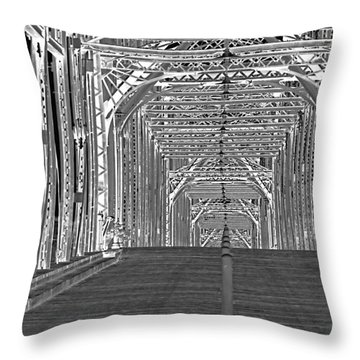 Throw Pillow featuring the photograph Walnut Black And White by Geraldine DeBoer