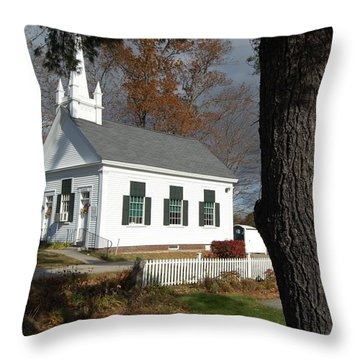 Throw Pillow featuring the photograph Walnut Grove by Mim White