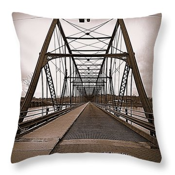 Walnut Street Bridge Throw Pillow