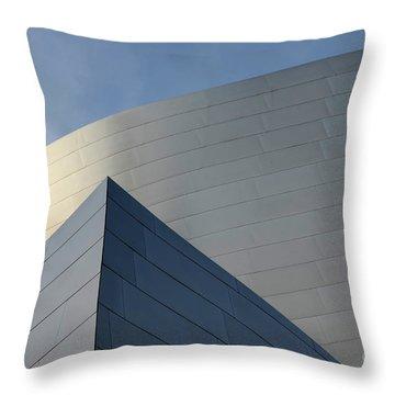 Walt Disney Concert Hall 3 Throw Pillow by Bob Christopher