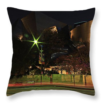 Throw Pillow featuring the photograph Walt Disney Concert Hall  by Kevin Ashley