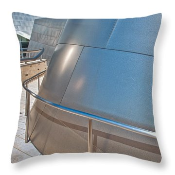 Walt Disney Concert Hall Music Hall Downtown Los Angeles Ca 3 Throw Pillow by David Zanzinger