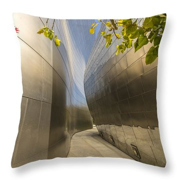 Walt Disney Concert Hall Scenery Throw Pillow by Angela A Stanton