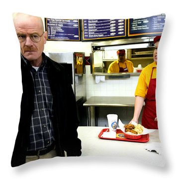 Walter White In Pollos Hermanos @ Breaking Bad Throw Pillow