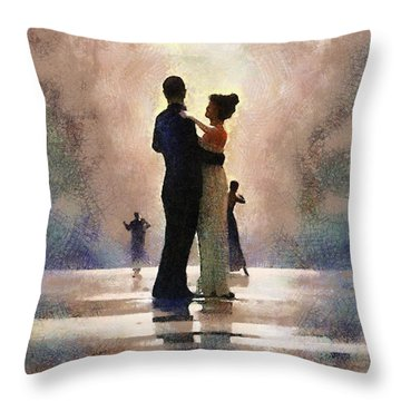 Waltz Like A Mirage Throw Pillow by Georgi Dimitrov