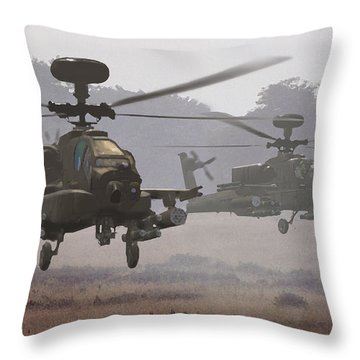 Waltz Of The Hunters Throw Pillow by Dieter Carlton