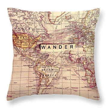 Wander Throw Pillow by Sylvia Cook