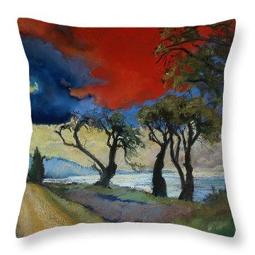 Wander Where The Wind Blows Throw Pillow by Robin Maria Pedrero