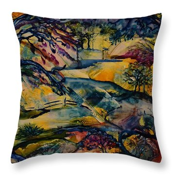 Wandering Woods Throw Pillow