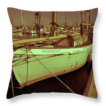 Wanderlust Throw Pillow by Amanda Barcon