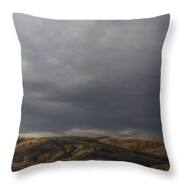 Waning Light On The Hills Of South Dakota Throw Pillow
