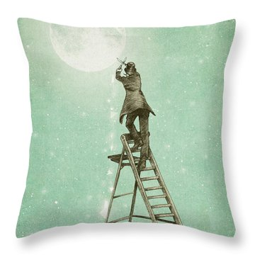 Waning Moon Throw Pillow