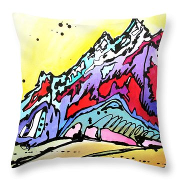 Waning Seasons In The Tetons Throw Pillow