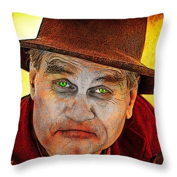 Wanna Be Friends? Throw Pillow by Chuck Staley