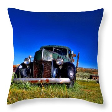 Wanna Ride - Bodie Ghost Town By Diana Sainz Throw Pillow