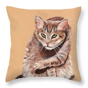Throw Pillow featuring the painting Want To Play by Anastasiya Malakhova